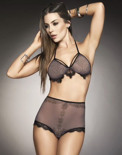 Over The Edge Bra & High Waist Panty Set