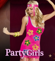 PartyGirls Costumes, Retro Costumes, Hippies Costumes