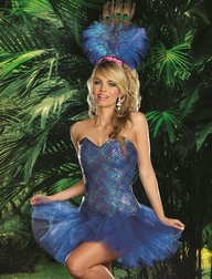 Peacock Envy Sexy Costume