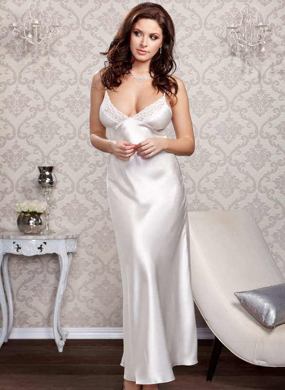 Long Gown Sexy Sleepwear Satin Long Gown Satin Gown