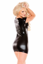 Playful Kitten Wet Look Mini Dress