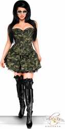 Plus Size 3 PC Sexy Army Girl Costume