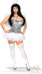 Plus Size 4 PC Sexy Angelic Beauty Costume