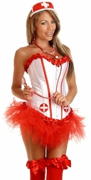 Plus Size 4 PC Sexy High Fever Nurse Costume