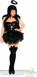 Plus Size 4 PC Sexy Sequin Dark Angel Costume