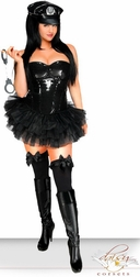 Plus Size 5 PC Sexy Sequin Pin-Up Cop Costume