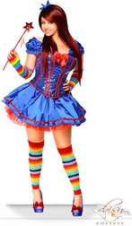 Plus Size 6 PC Rainbow Girl Sexy Costume