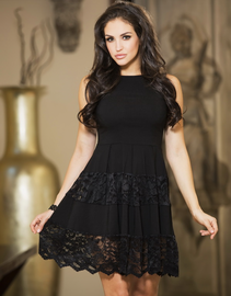 Plus Size All Eyes On Me Skater Dress