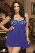 Plus Size Bejeweled Lust Sexy Babydoll