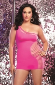 Plus Size Club Diamond Teasing You Tonight Sexy Dress