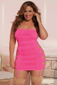 Plus Size Flashy Lady Sexy Dress