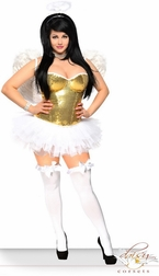 Plus size Golden Angelic beauty costume