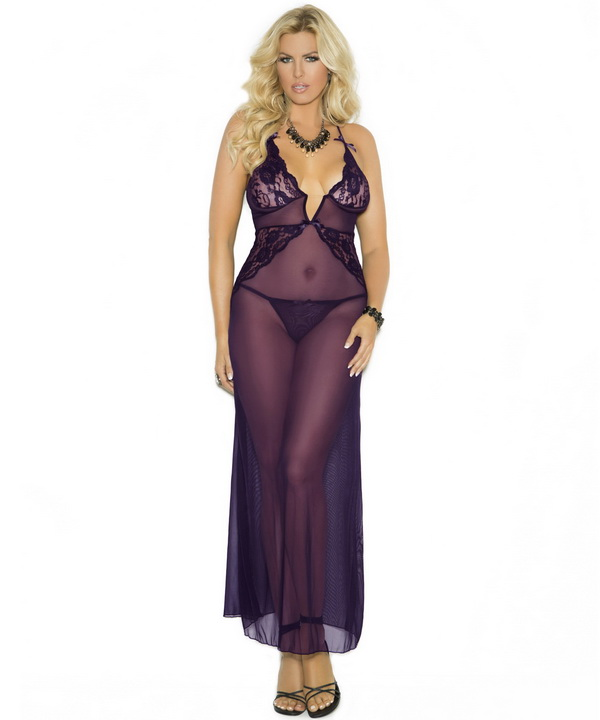Plus Size Sexy Gown Plus Size Sheer Gown Plus Size