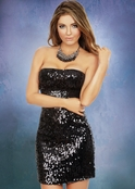 Plus Size Harlem Shake Sequin Dress