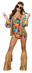 Plus Size Hippie Hottie Sexy Costume