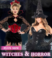 Plus Size Horror Witches Costumes
