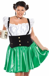 Plus Size Lager Lass Sexy 2 PC Costume