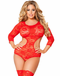 Plus Size Loving You Cut Out Teddy