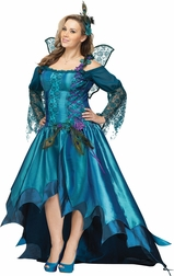 Plus Size Peacock Fairy Queen Costume