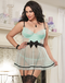 Plus Size Pin Up Boudoir Apron Babydoll & Thong Set