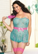 Plus Size Pink Diamond Cotton Candy Affair Sexy Babydoll