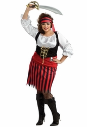 Plus Size Pirate Girl Costume