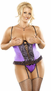 Plus Size Precious Gems Collection Cupless Corset Set