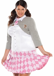 Plus Size Prep School Girl Costume