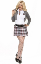Plus Size Queen Of Detention 3 PC Costume