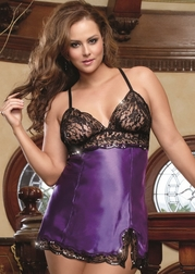 Plus Size Royal Desires Babydoll