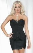 Plus Size Secret Lover Pinstripe Corset