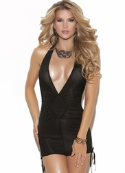 Plus Size Sexy Sweet Lover Deep V Halter Dress