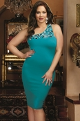 Plus Size Stellar Rendezvous Sexy Dress