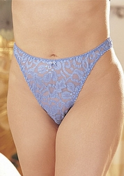 Plus Size Stretch Lace Thong Panties