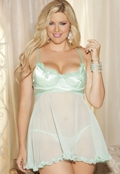 Plus Size Sweet Heart Babydoll