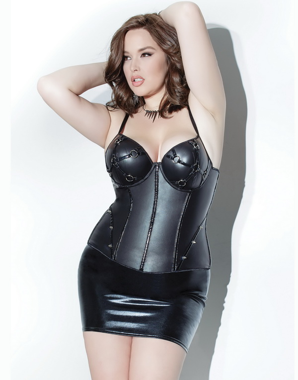 Plus Size Tonight You're Mine Sexy Bustier