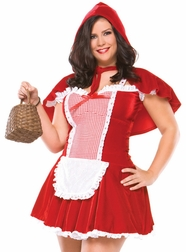 Plus Size Velvet Red Riding Hood Costume