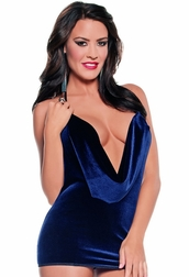 Plus Size Velvet Vixen Sexy Halter Dress