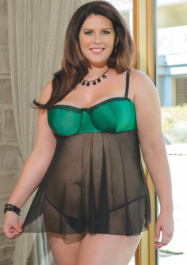 Plus Size Viscious Vixen Babydoll