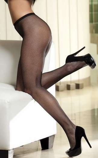 Power Fishnet Back Seam Pantyhose