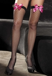 Power Fishnet Bow Stockings