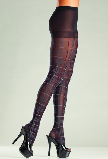 Pretty In Plaid Sexy Pantyhose