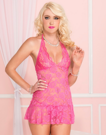 Provocative Lady Sexy Lace Chemise