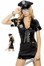 Pull Over 6 PC Cop Costume