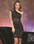 Purple Diamond Black One Shoulder Dress