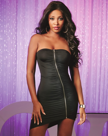 Purple Diamond Sexy Flirt Mini Dress