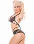 Racy Lacy Wet Look Bra & Panty Set