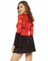 Racy Red Flare Dress