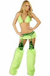 Raver Kitty Sexy 2 PC Skirt Set