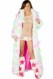 Raver Queen Sexy Light Up Fur Coat